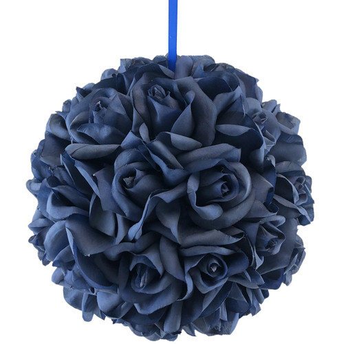50 Navy Blue Rose Heads Ball Pomander Wedding Party Table Centerpiece 10 inch