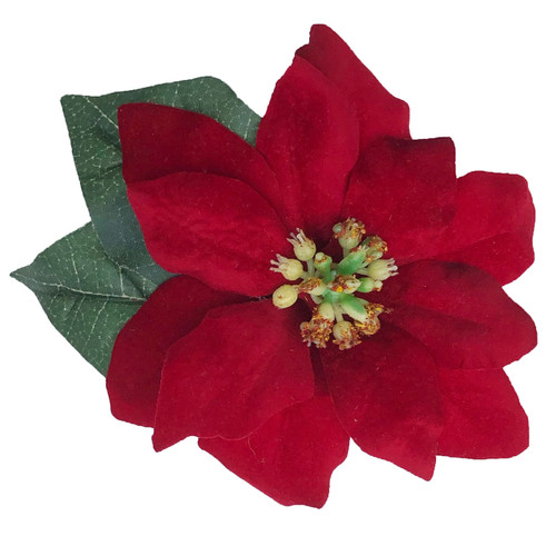 High quality men's pin-on poinsettia boutonniere. Perfect for Christmas formal, holiday weddings and parties as well. Extremely well made and a gorgeous rich red color! Suitable for ladies to attach to purses, coats, hats, etc for a lovely holiday pop of red color.