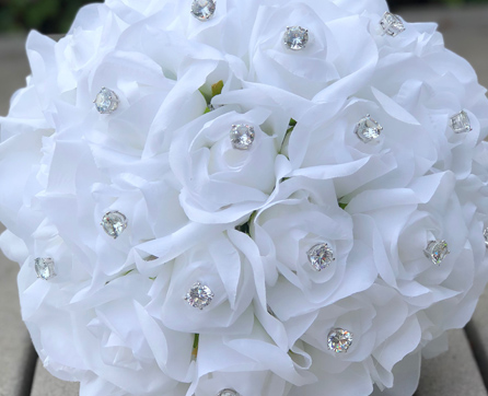 Silk wedding flowers affordable wedding decor and silk bridal bouquets silk wedding bouquets jewels mightylinksfo