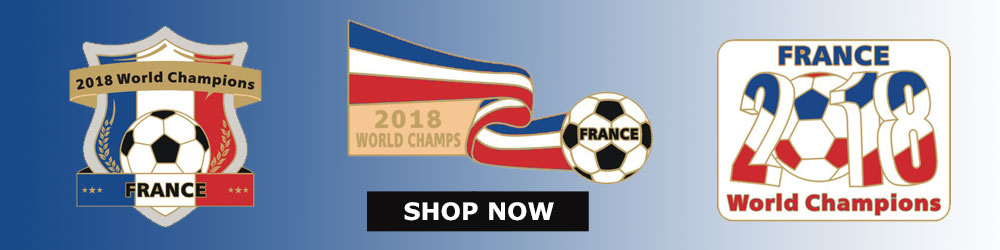 France World Cup Champs Pins