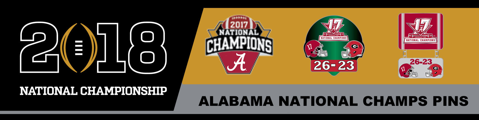 Alabama 2017 National Champs Pins