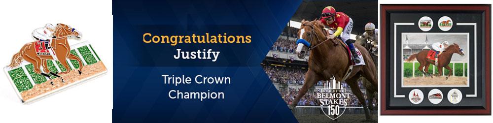Justify Triple Crown Pins