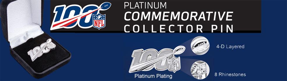 NFL 100 Anniversary Pin