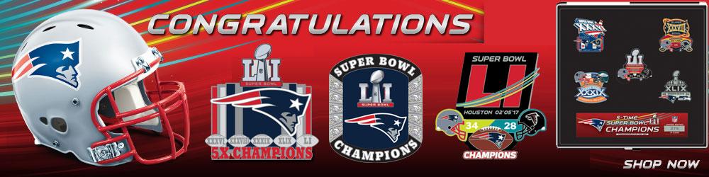 Patriots Super Bowl Pins