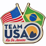 Rio De Janeiro Olympics Flags Pin