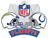 2008 NFL Playoffs Chargers vs. Colts Pin