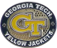 Georgia Tech Yellow Jackets Oval Pin