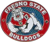 Fresno State Bulldogs Oval Pin