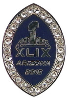 2015 Super Bowl XLIX Rhinestone Pin