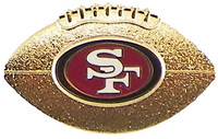 San Francisco 49ers Sculptured Gold Football Pin