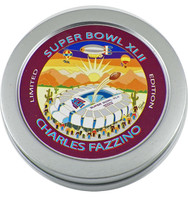 Super Bowl XLII (42) Commemorative Pin w/ Charles Fazzino Autograph