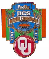 2009 BCS National Championship - Oklahoma Sooners Pin