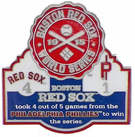 1915 World Series Commemorative Pin - Red Sox vs. Phillies
