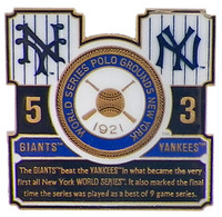 1921 World Series Commemorative Pin - Giants vs. Yankees
