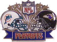 2008 NFL Playoffs Dolphins vs. Ravens Pin
