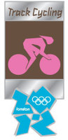 London 2012 Olympics Track Cycling Pictogram Pin