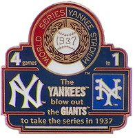 1937 World Series Commemorative Pin - Pirates vs. Yankees
