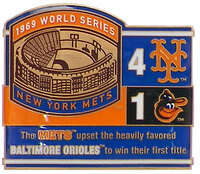 1969 World Series Commemorative Pin - Pirates vs. Yankees