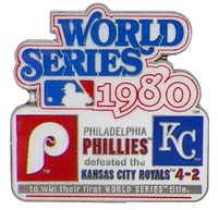 1980 World Series Commemorative Pin - Phillies vs. Royals