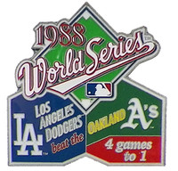 1988 World Series Commemorative Pin - Dodgers vs. A's