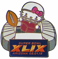 2015 Super Bowl XLIX Hello Kitty Stadium Pin