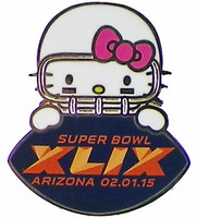 2015 Super Bowl XLIX Hello Kitty Game Ball Pin