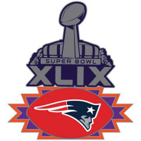 New England Patriots 2015 Super Bowl XLIX Pin