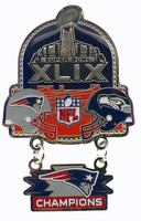 Super Bowl XLIX (49) Oversized Commemorative Pin - Dangler Style A