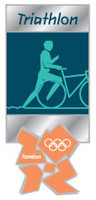 London 2012 Olympics Triathlon Pictogram Pin