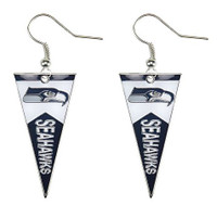 Seattle Seahawks Pennant Earrings