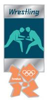 London 2012 Olympics Wrestling Pictogram Pin