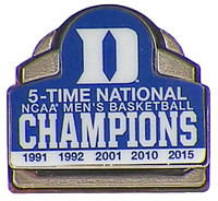 Duke Blue Devils NCAA Men's Basketball 5-Time Champs Pin