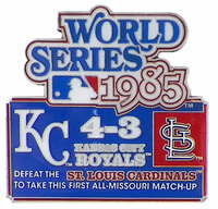 1985 World Series Commemorative Pin - Royals vs. Cardinals