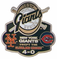 1954 World Series Commemorative Pin - Giants vs. Cubs
