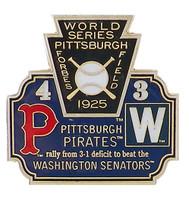 1925 World Series Commemorative Pin - Pirates vs. Senators