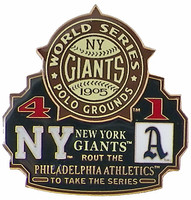 1905 World Series Commemorative Pin - Giants vs. Athletics