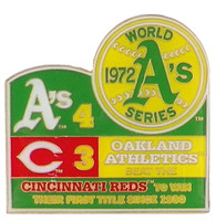 1972 World Series Commemorative Pin - Athletics vs. Reds
