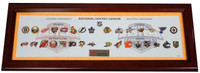 NHL Team Logo Deluxe Collector Framed Pin Set