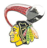 Chicago Blackhawks Glitter Trail Pin