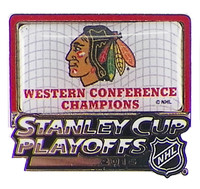 Chicago Blackhawks 2015 NHL Westerm Conference Champions Pin