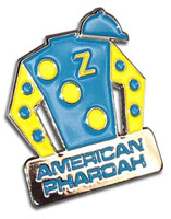 American Pharoah Triple Crown Jockey Silks Pin