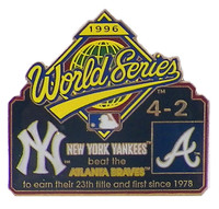 1996 World Series Commemorative Pin - Yankees vs. Braves