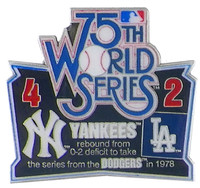 1978 World Series Commemorative Pin - Yankees vs. Dodgers