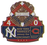 1939 World Series Commemorative Pin - Yankees vs. Reds