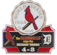 1934 World Series Commemorative Pin - Cardinals vs. Tigers