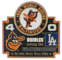1966 World Series Commemorative Pin - Orioles vs. Dodgers