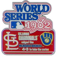 1982 World Series Commemorative Pin - Cardinals vs. Brewers