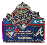1992 World Series Commemorative Pin - Braves vs. Yankees