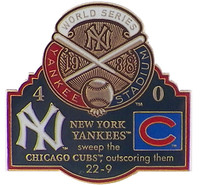 1938 World Series Commemorative Pin - Yankees vs. Cubs