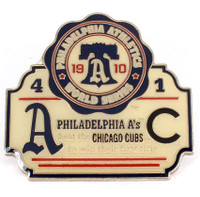 1910 World Series Commemorative Pin - A's vs Cubs